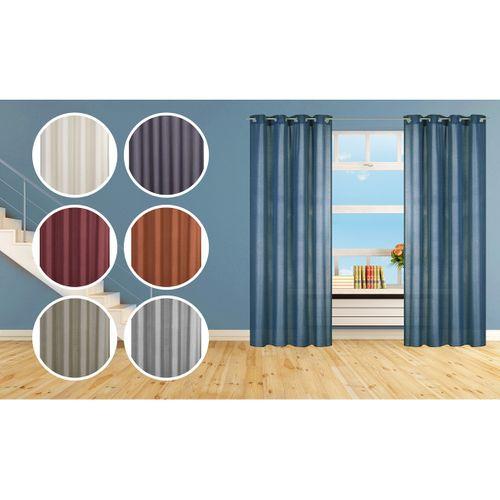 Eyelet curtain Lino Elbersdrucke linenoptik 140x255 non-transparent 7 colors online kaufen