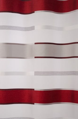 Loop curtain Cosoria semitransparent stripes 5614-07 red online kaufen