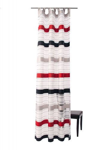 Loop scarf stripes white semitransparent 140x245 5595-10 online kaufen