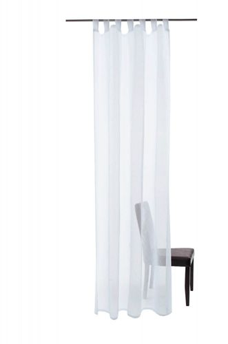 Loop curtain Barletta Öko-Tex curtain 140 x 245 transparent 5502-03 white