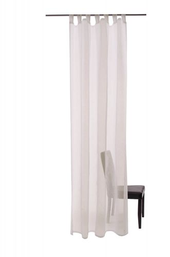 Loop curtain Barletta Öko-Tex curtain 140 x 255 transparent 5502-41 cream nature online kaufen
