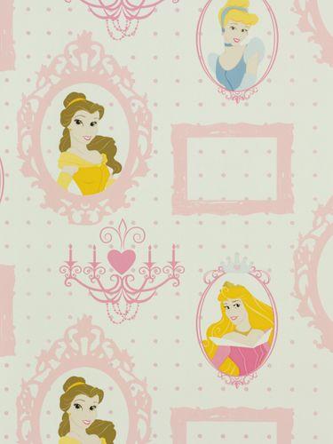 Kindertapete Kids@home 71799 Disney Prinzessinnen weiß rosa online kaufen