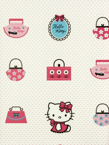 Kindertapete Kids@home 73499 Hello Kitty weiß pink online kaufen
