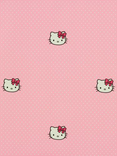 Kids wallpaper Kids@Home wallpaper 73399 Hello Kitty points rose white