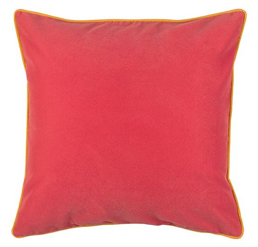 cushion cover b.b. Home passion pillowcase 45x45cm plain velours red orange