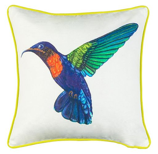 cushion cover ÖKO-Tex b.b. Home passion pillowcase 50x50cm hummingbird white colorful