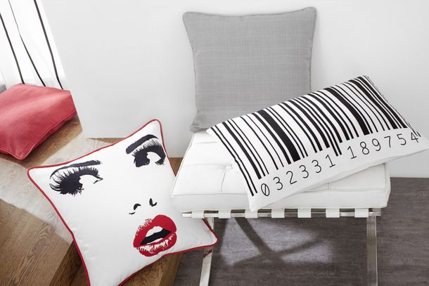 cushion cover ÖKO-Tex Home vision pillowcase 50x50cm Pin-Up red white online kaufen