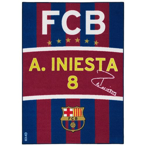Carpet kids carpet FCB Messi fan carpet 95x133 cm / 37.4 '' x 52.36 '' blue red yellow white online kaufen