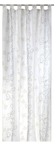 Loop curtain Elbersdrucke Floral Beauty 09 opaque curtain nature