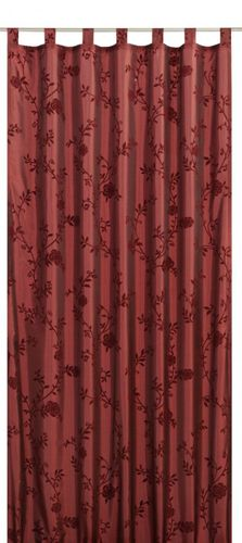 Loop curtain Elbersdrucke Floral Bonjour Taft 14 opaque curtain red