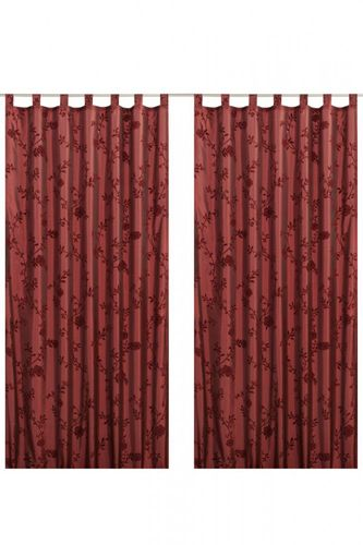 Loop curtain Elbersdrucke Floral Bonjour Taft 14 opaque curtain red online kaufen