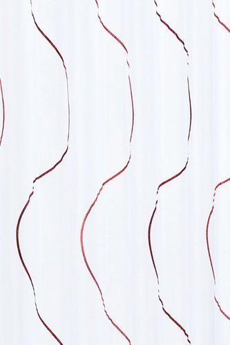 Loop curtain Elbersdrucke Serpentine 04 transparent curtain white red online kaufen