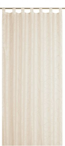 Loop curtain Elbersdrucke Free 09 opaque curtain nature