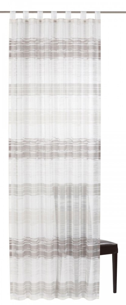 schlaufenschal filou 06 transparent wei grau. Black Bedroom Furniture Sets. Home Design Ideas
