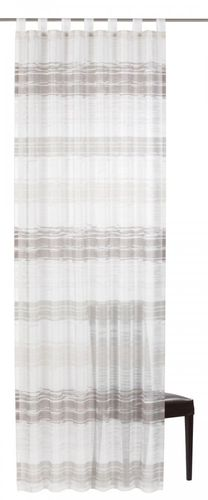 Loop curtain Elbersdrucke Filou 06 transparent curtain white grey