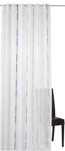 Loop curtain Elbersdrucke Calypso 01 semi-transparent curtain blue grey
