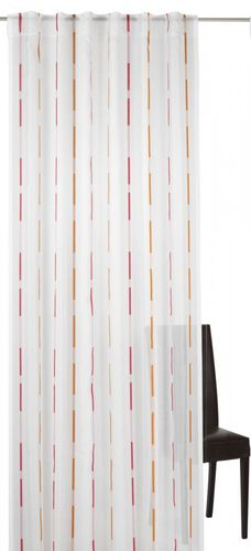 Loop curtain Elbersdrucke Calypso 04 semi-transparent curtain pink orange online kaufen
