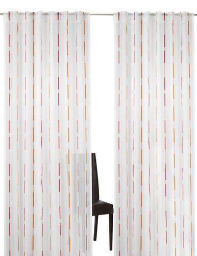 Loop curtain Elbersdrucke Calypso 04 semi-transparent curtain pink orange online kaufen