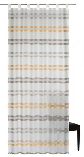 Loop curtain Elbersdrucke Kiruna 05 semi-transparent curtain white orange online kaufen