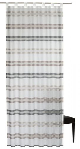 Loop curtain Elbersdrucke Kiruna 06 semi-transparent curtain white brown online kaufen