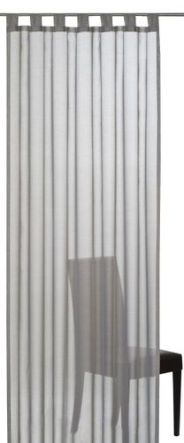 Loop curtain Elbersdrucke Batist Uni 07 semi-transparent curtain grey