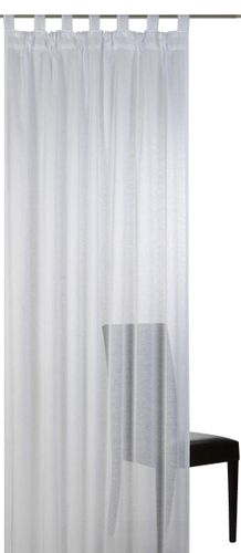 Loop curtain Elbersdrucke Effecto 00 semi-transparent curtain white