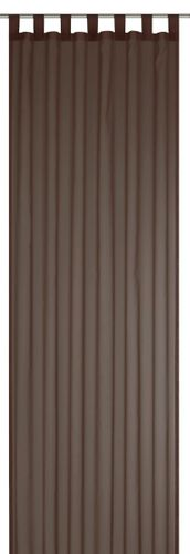 Loop curtain Elbersdrucke Sevilla Nougat transparent curtain brown  online kaufen