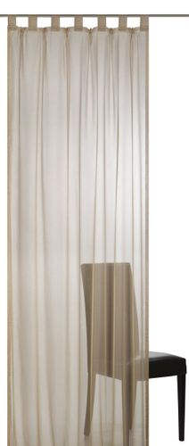 Loop curtain Elbersdrucke Plana 19 transparent curtain dark beige