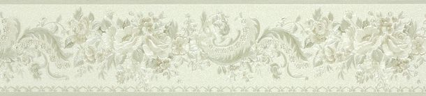 Border Chateau 4 AS Création satin 95458-5 flowers cream silver online kaufen