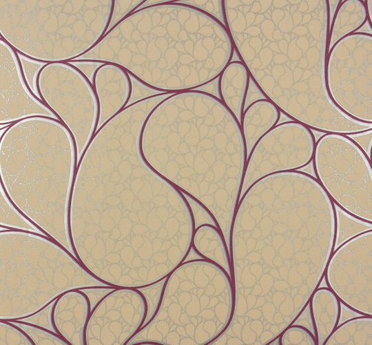 Non-woven wallpaper Marburg 55426 design beige pink