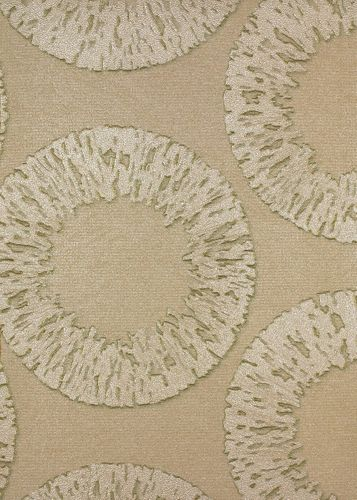 Non-Woven Wallpaper Circles Graphic beige Marburg 54908