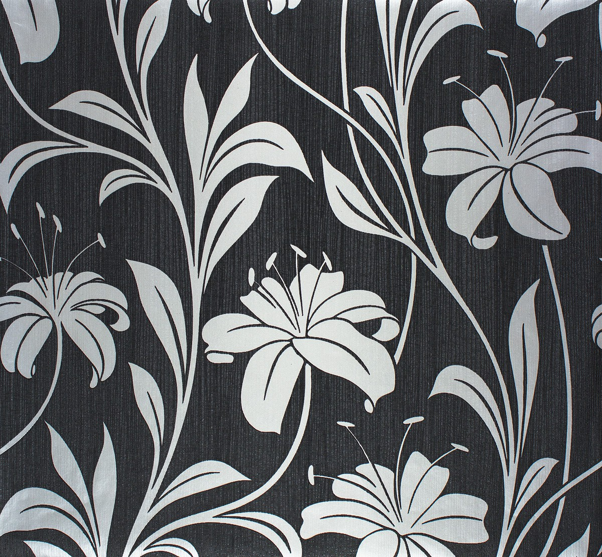 vliestapete floral schwarz silber marburg 55121. Black Bedroom Furniture Sets. Home Design Ideas