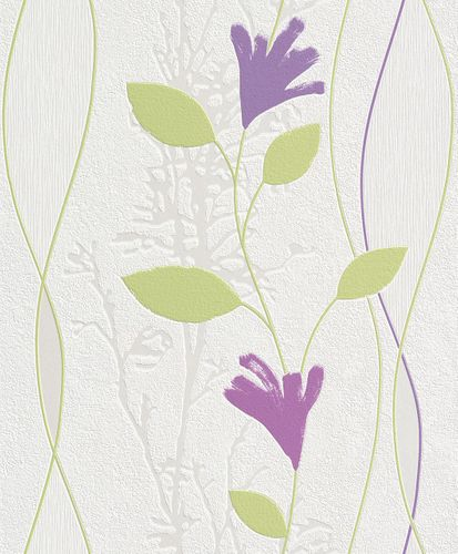 Rasch non-woven wallpaper Your Season wallpaper 435320 floral modern white green online kaufen
