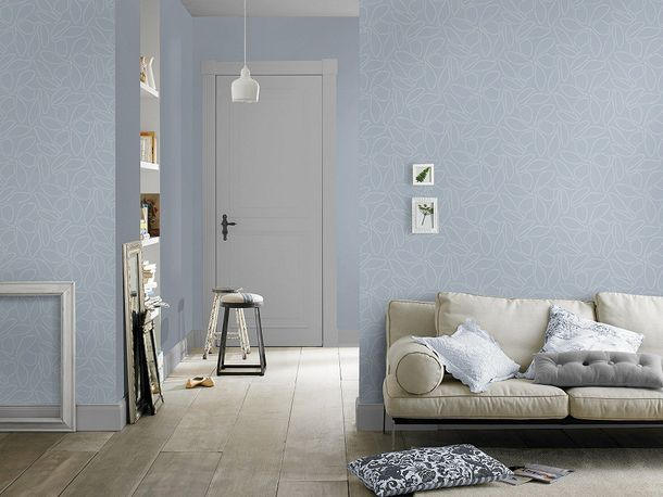 Rasch non-woven wallpaper Your Season wallpaper 435146 design light blue white online kaufen