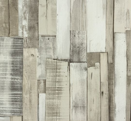 Rasch paper wallpaper 203714 Kids & Teens wooden optic grey beige cream online kaufen