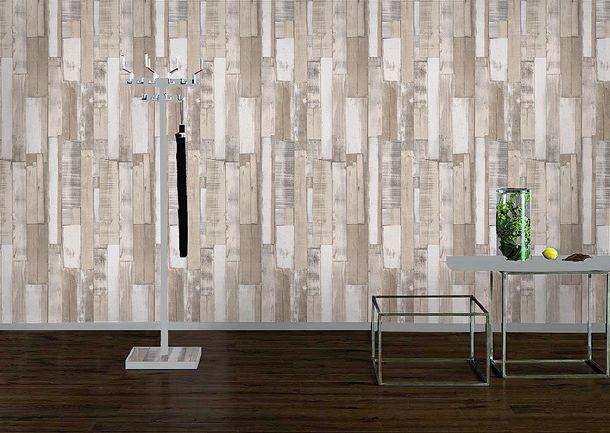 Rasch paper wallpaper 203714 Kids & Teens wooden optic grey beige cream online kaufen