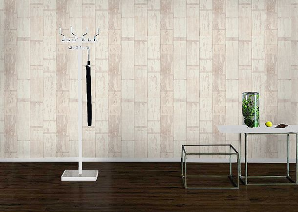 Rasch non-woven wallpaper 587104 Kids & Teens wooden optic cream/white online kaufen