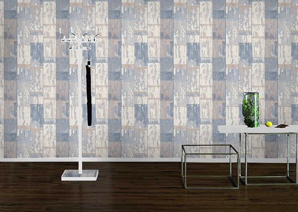Rasch non-woven wallpaper 587128 Kids & Teens wooden optic grey cream online kaufen