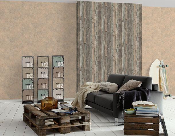 Wallpaper concrete stone bricks brown Lutèce 95406-2 online kaufen