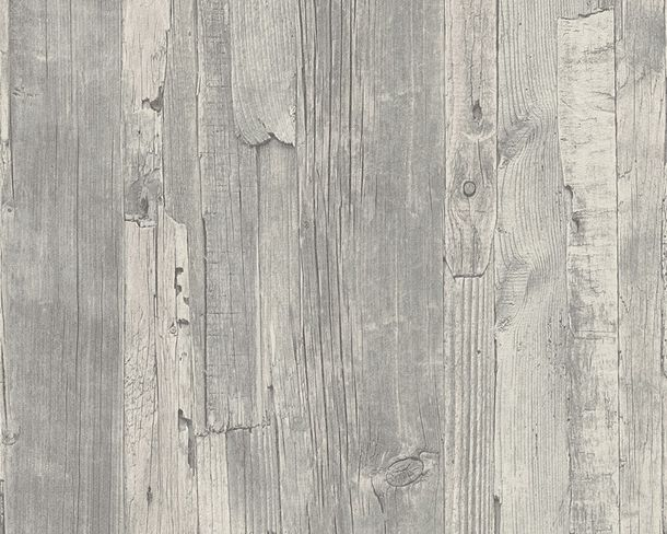 Wallpaper wooden board style AS Creation 95405-4 grey