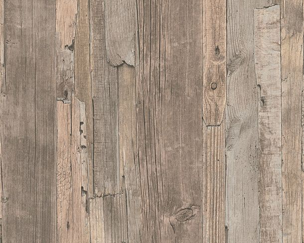 Wallpaper wooden board style brown AS Creation 95405-3 online kaufen