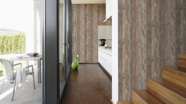 Wallpaper wooden board style brown Lutèce 95405-3 online kaufen