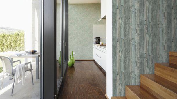non-woven wallpaper wood mint grey wallpaper AS Decoworld 95405-5 954055 online kaufen
