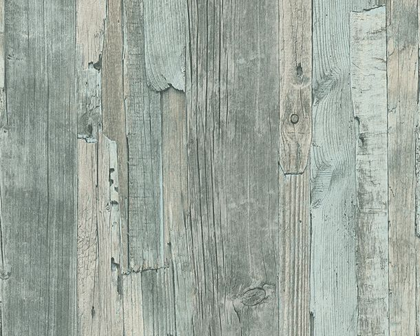 non-woven wallpaper wood mint grey wallpaper AS Decoworld 95405-5 954055 online kaufen