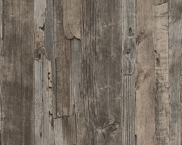 Wallpaper wood brown grey AS Decoworld 95405-1 online kaufen