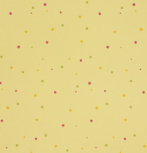 paper wallpaper Girotondo kids 006012 Rasch Textil stars yellow green purple online kaufen