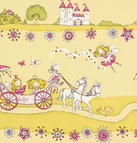 XXL-paper border Girotondo kids 006056 Rasch Textil princess yellow cream rose