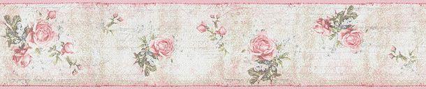 Borte Landhaus Blumen rosa beige Djooz 95665-1