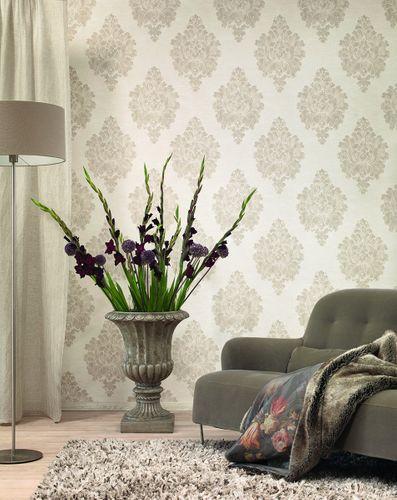 Non-woven wallpaper baroque classic cream purple Rasch Textil Tapete Comtesse 225333 online kaufen