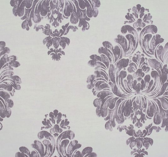 Non-woven wallpaper baroque classic cream purple Rasch Textil Tapete Comtesse 225333